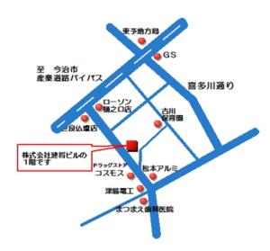 簿記・パソコンスクール西条地図
